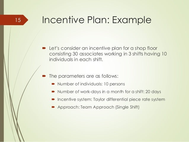 How to design a universal incentive system for a manufacturing company