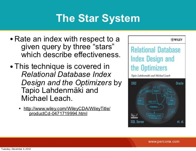 """The Star System       • Rate an index with respect to a                given query by three """"stars""""                which d..."""