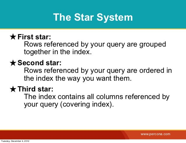 The Star System       ★ First star:                    Rows referenced by your query are grouped                    togeth...