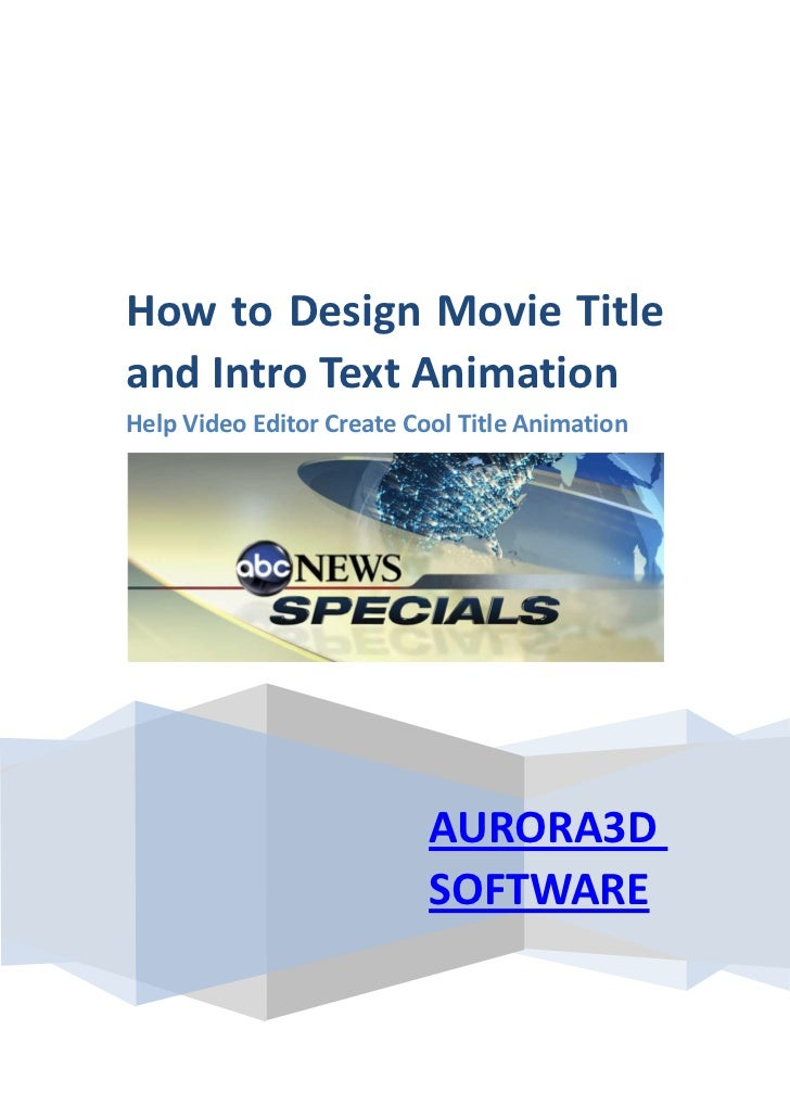 How to Design Movie Titleand Intro Text AnimationHelp Video Editor Create Cool Title Animation                           A...