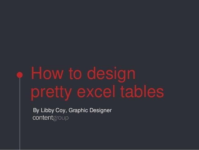 excel design