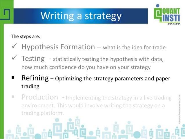 Trading strategies using r