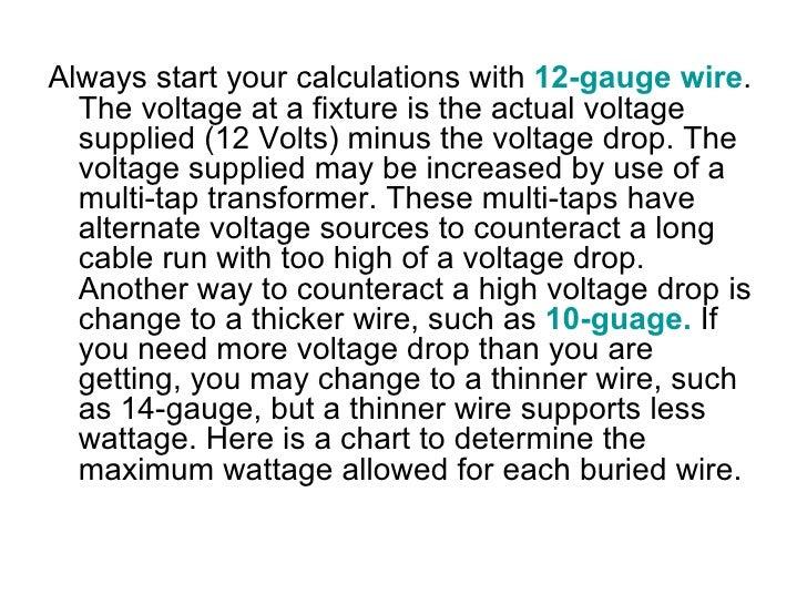 Landscape lighting voltage drop formula : How to design your volt outdoor lighting