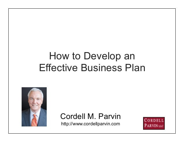 how to develop a business plan