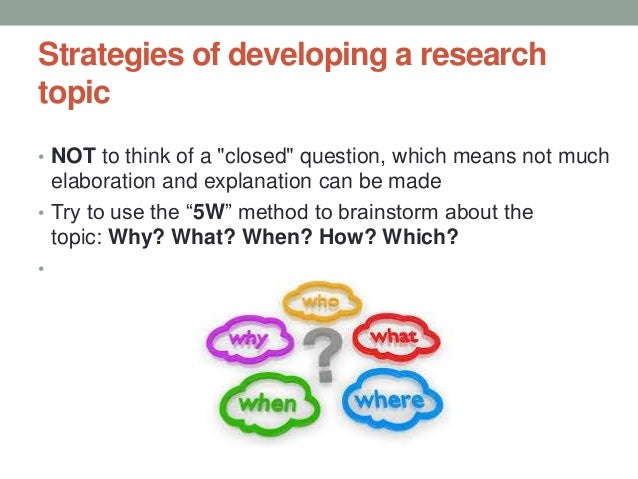 how to formulate a research topic