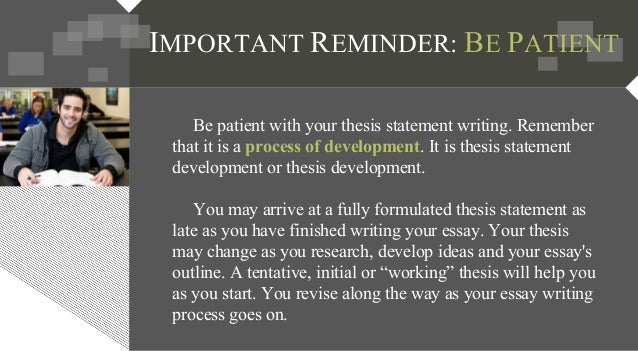 to develop a thesis What are the four tips for writing a good thesis statement for an minnesota  school of business d eveloping s trong t hesis s tatements t he t.