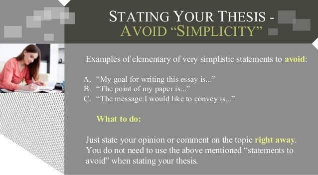 writing a thesis statement lesson plan Students will begin the process of writing their culminating writing task by drafting a thesis statement and topic sentences.