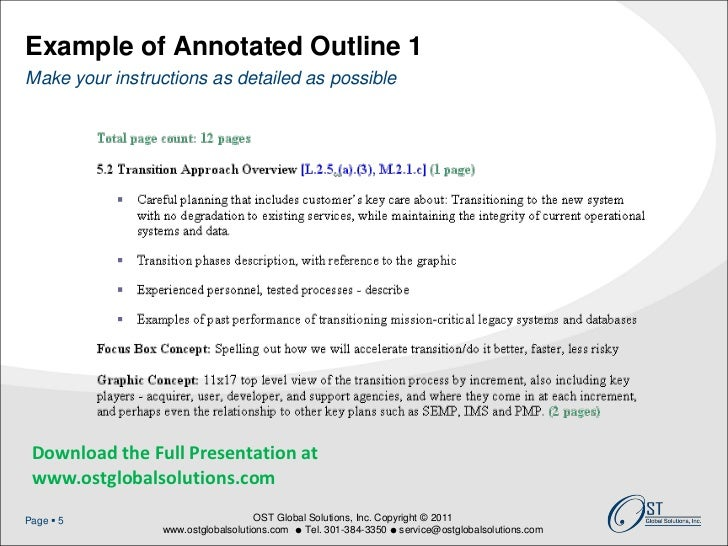 webinar how to develop bulletproof proposal outlines annotated outline format