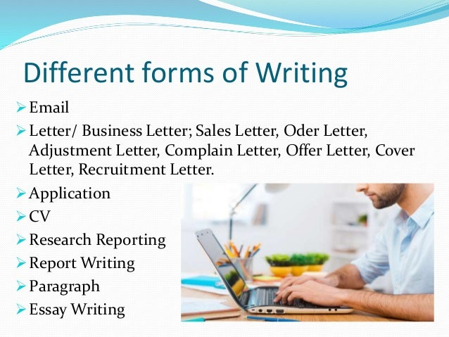 Different types of formal writing assessments