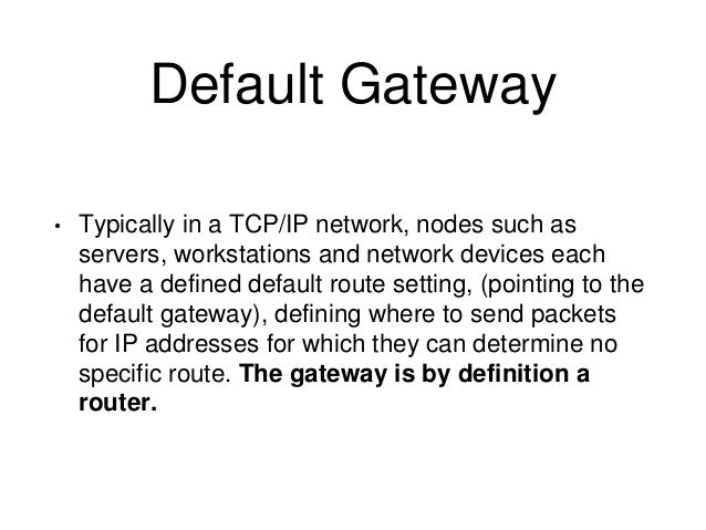 how to set default gateway