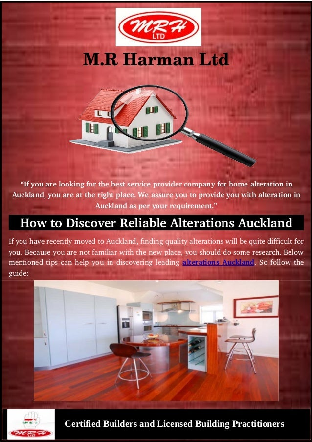 "M.RHarmanLtd ""Ifyouarelookingforthebestserviceprovidercompanyforhomealterationin Auckland,youareatther..."