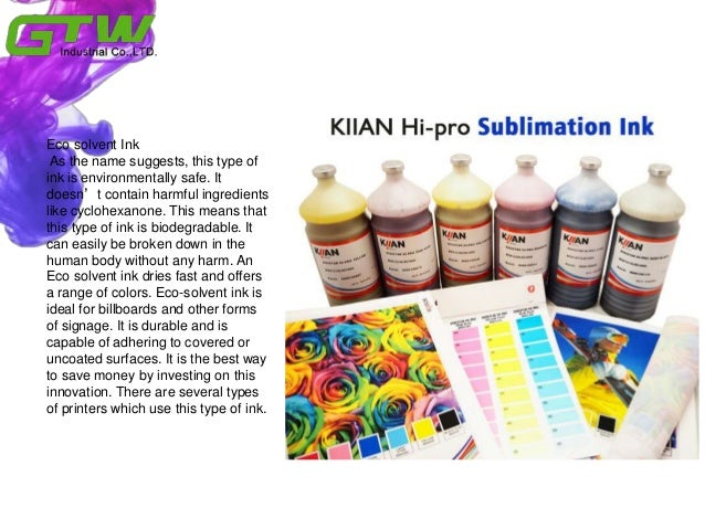 How to distinguish eco solvent ink and solvent ink Slide 3