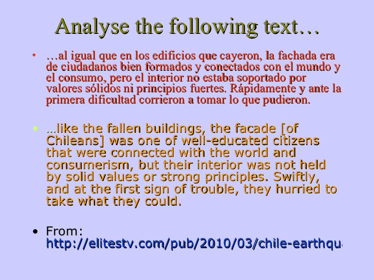how to analyze text A critical analysis is subjective writing because it expresses the writer's opinion or evaluation of a text analysis means to break down and study the parts.