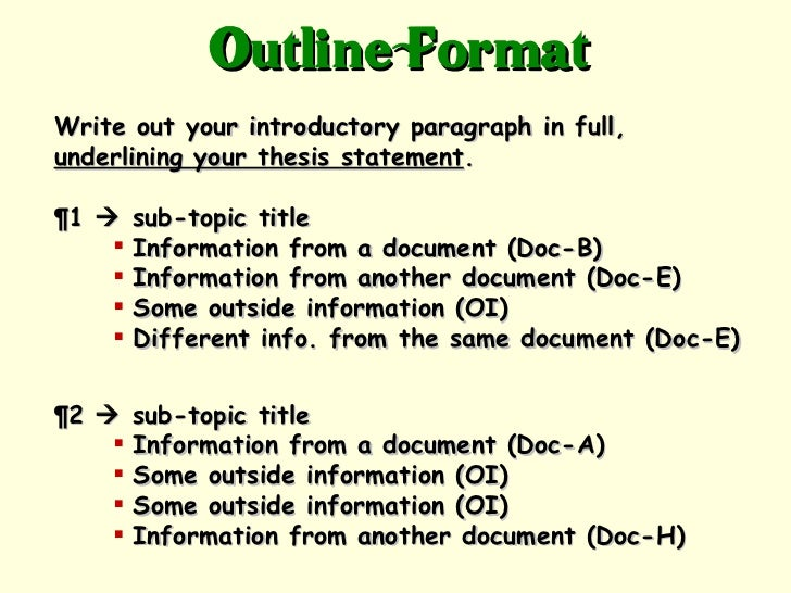 Dbq essay introduction