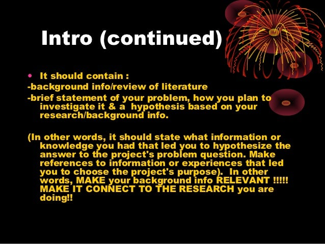how to do a science project powerpoint research paper