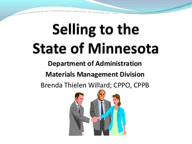 Department of Administration Materials Management Division Brenda Thielen Willard; CPPO, CPPB