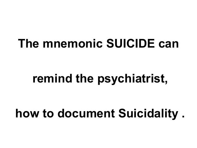 How to document suicide risk