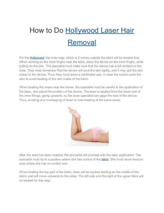 Position for bikini laser brazilian