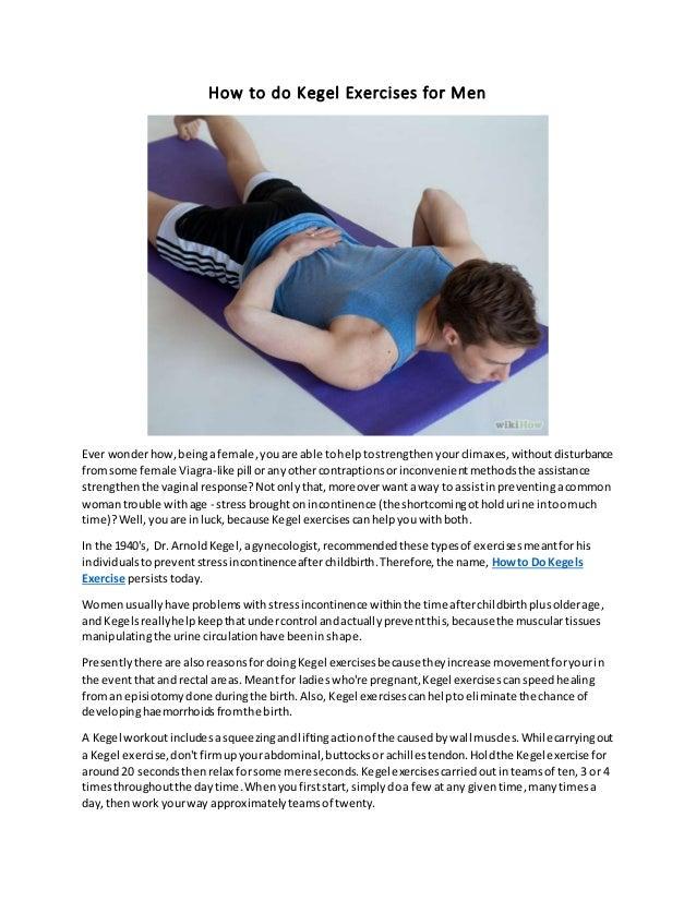 How do you do kegel exercises for men