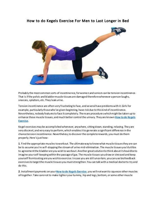 How Do Kegel Exercises Help Men Last Longer
