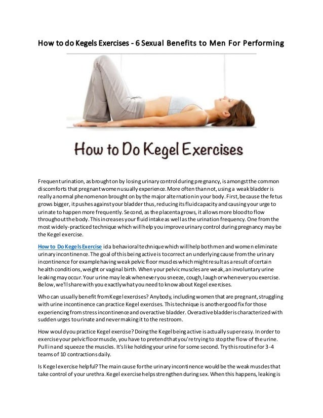 How To Do Kegel Exercises For Men Properly
