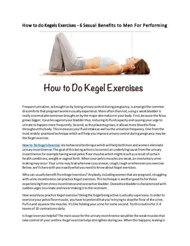 How to do male kegel exercises