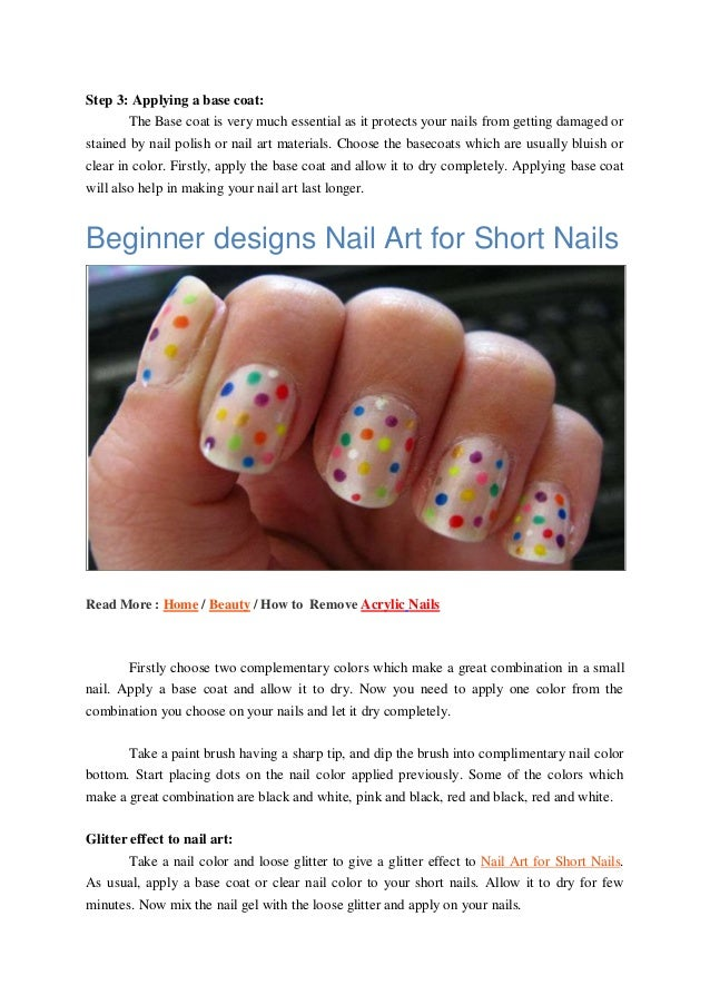 How to do nail art for short nails