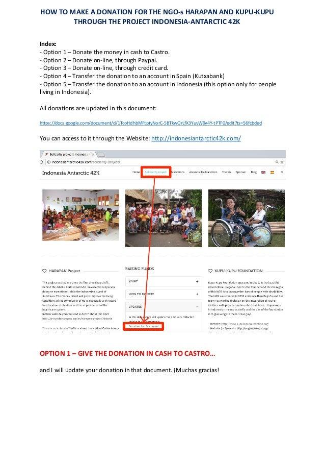 Index: -Option1–DonatethemoneyincashtoCastro. -Option2–Donateon-line,throughPaypal. -Option3–Do...