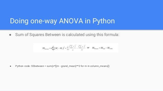 How to do one way anova using python