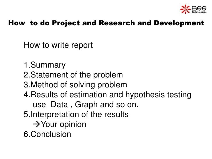 how i can write report Page 1 of 9 how to write a design report ver: 2015-2-17-2 summary a design report is the written record of the project and generally is the only record that lives once the.