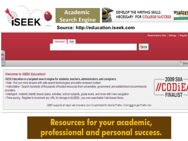 Academic and Scholar Search Engines and Sources