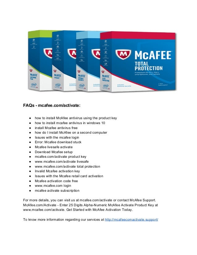 How to Download and install McAfee LiveSafe - McAfee comactivate