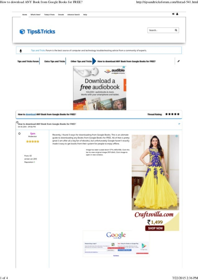 How To Pdf Book From Google Books
