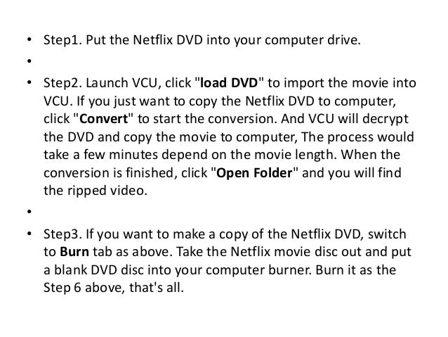 How to download and burn Netflix movies to DVD