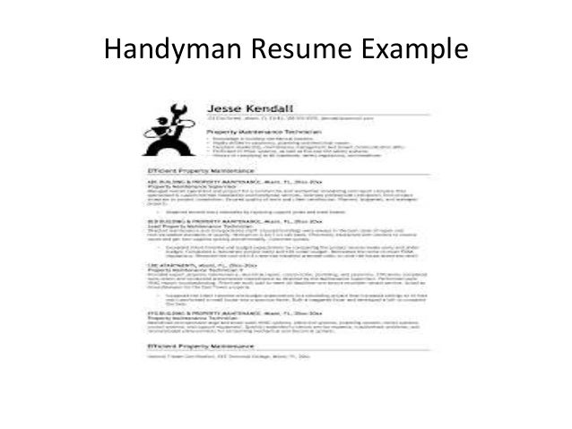 3 handyman resume example - Handyman Resume Samples