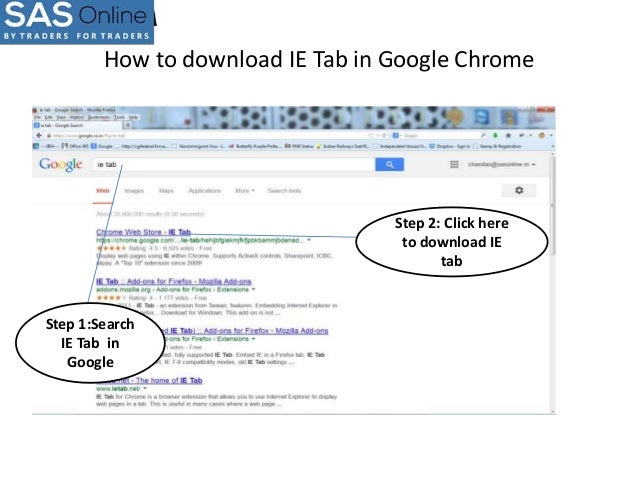 How to download ie tab in google chrome