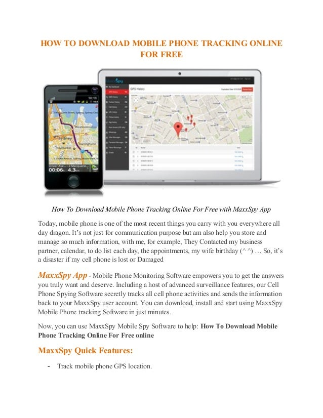 download free cell phone tracking software