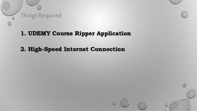 How to download udemy courses using udemy ripper