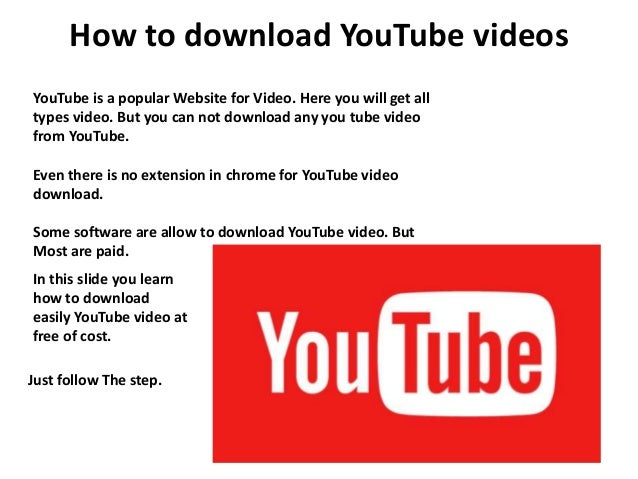 How to download youtube videos for free how to download youtube videos youtube is a popular website for video here you will step ccuart Gallery