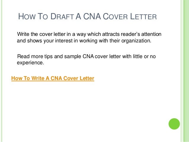 Cover Letter Cna