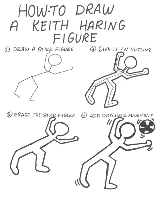 How to draw a keith haring figure
