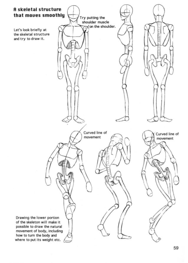 The female body                    in blocks   Blocks are just guidelines   for your head. When you   draw blocks, simply ...