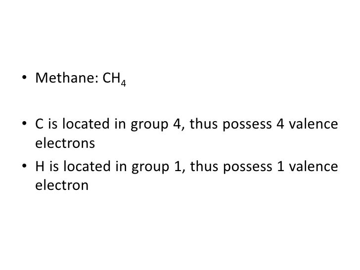 How to draw methane ch4 lewis structure