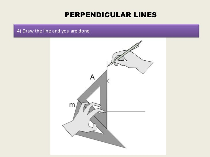 Drawing Parallel Lines Using Set Squares : How to draw parallel and perpendicular lines