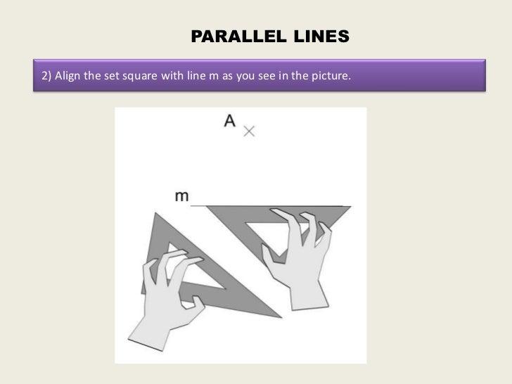 Drawing Perpendicular Lines Using Set Square : How to draw parallel and perpendicular lines