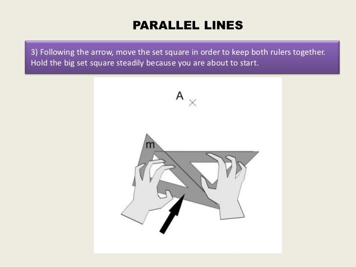Drawing Parallel Lines With Set Squares : How to draw parallel and perpendicular lines