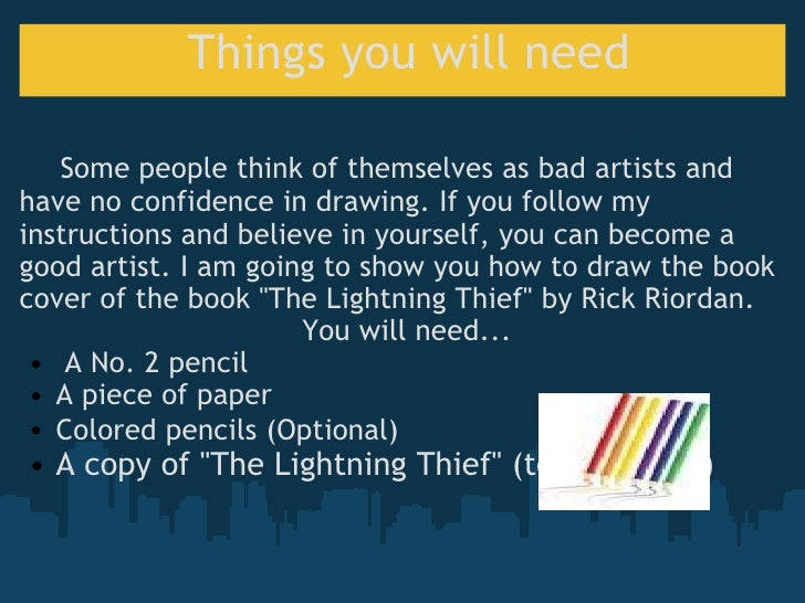 Drawing A Book Cover : How to draw the book cover for lightning thief