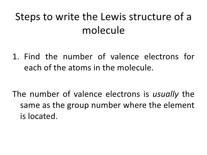 2  steps to write the lewis structure