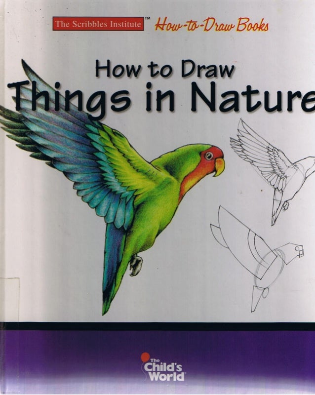 Scribbles Drawing Book : How to draw things in nature scribbles institute