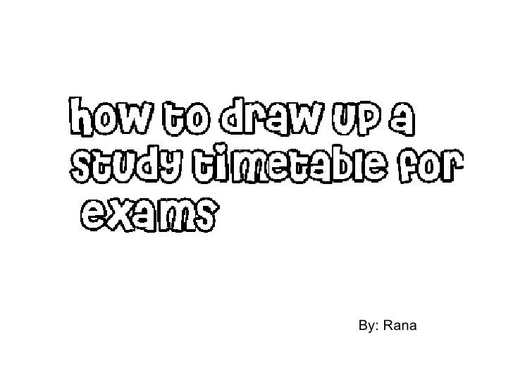 study timetable maker